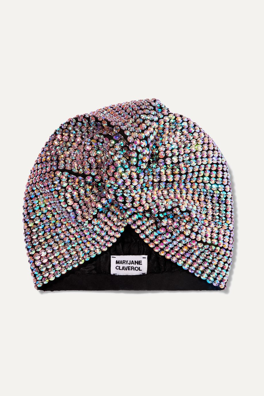 MaryJane Claverol Honore crystal-embellished stretch-cotton turban