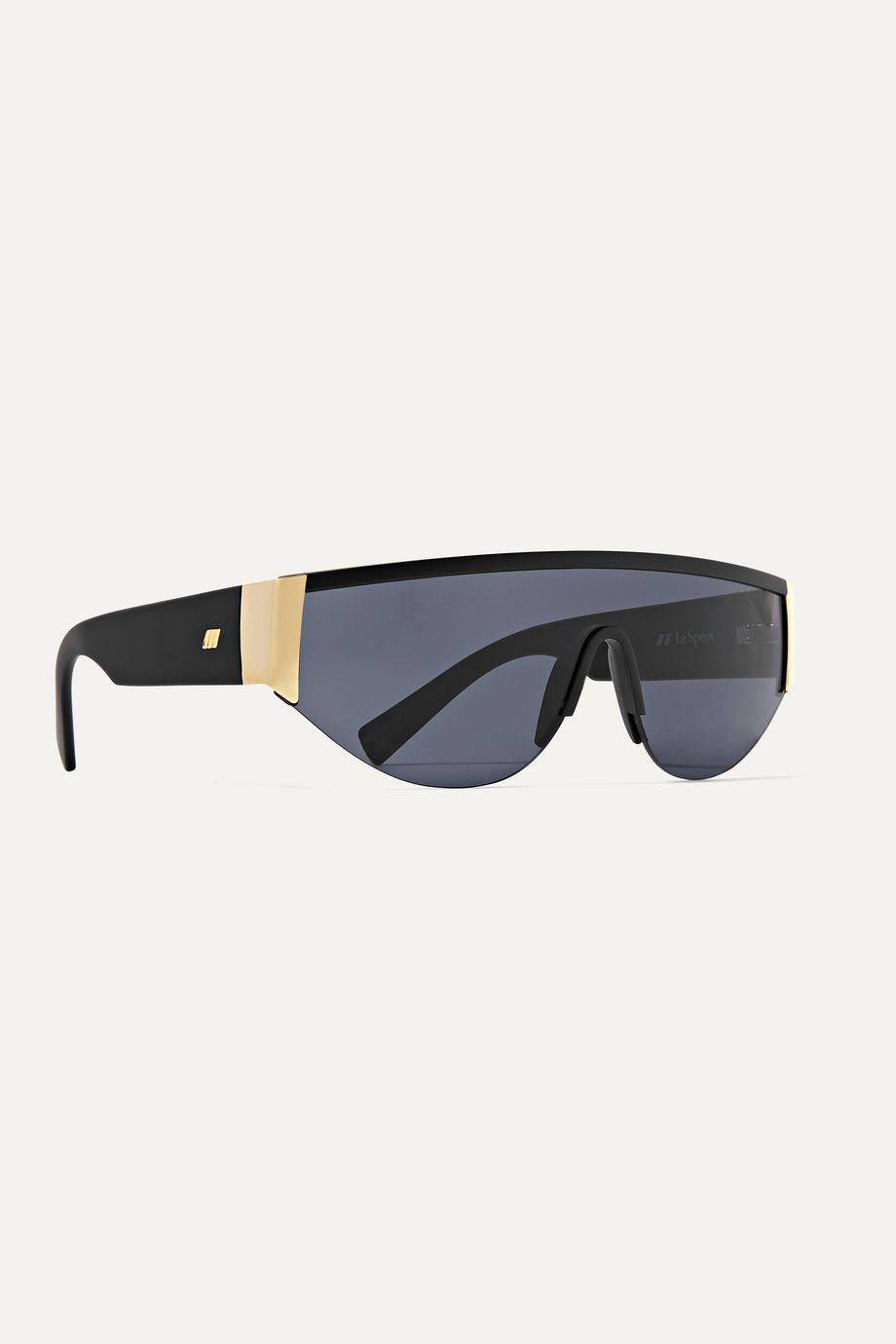 Le Specs Viper D-frame acetate and gold-tone sunglasses