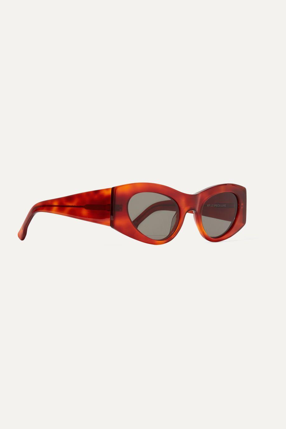 Le Specs Extempore round-frame acetate sunglasses
