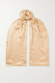Givenchy Monogramme silk-jacquard scarf