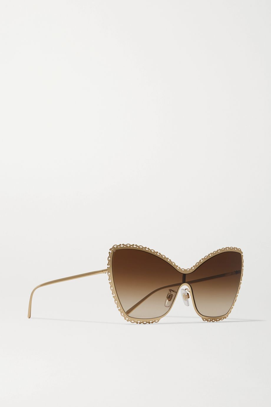 Dolce & Gabbana Devotion cat-eye gold-tone sunglasses