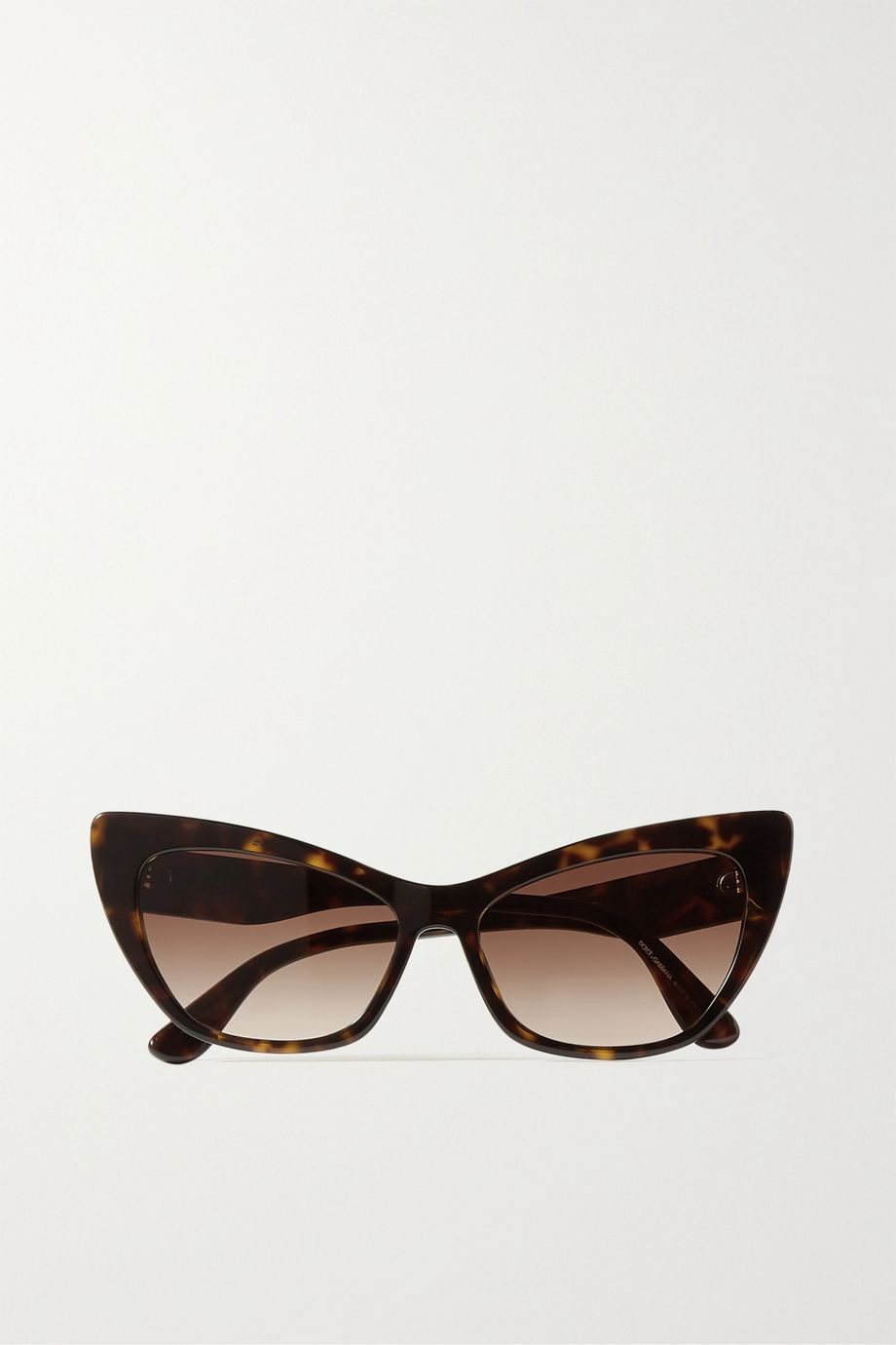 Dolce & Gabbana Cat-eye tortoiseshell acetate sunglasses