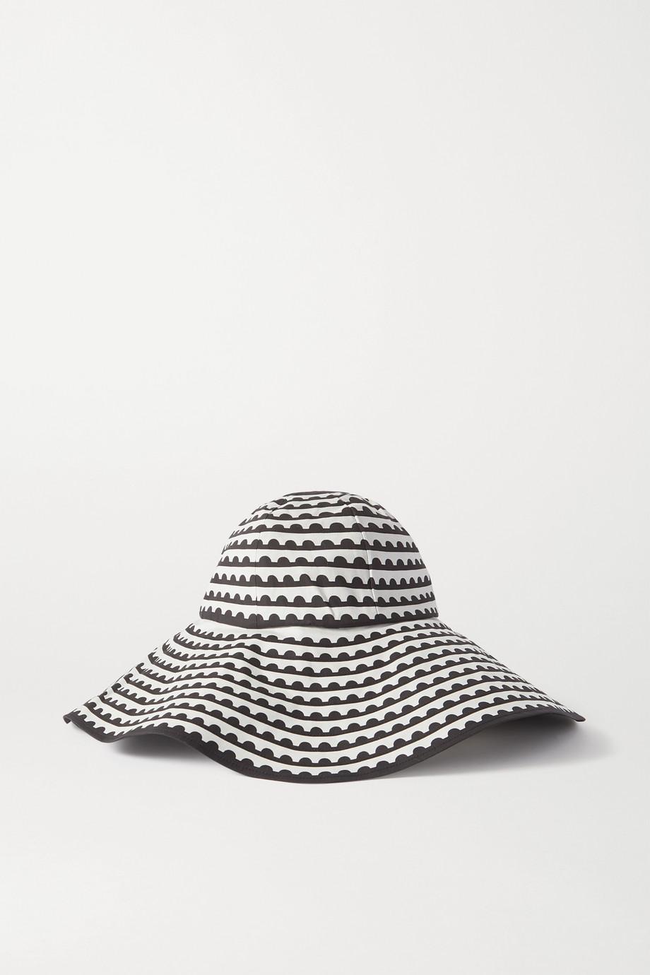 Mary Katrantzou MARY-MARE Under The Sun Hut aus einer bedruckten Baumwollmischung