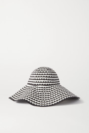 Mary Katrantzou MARY-MARE Under The Sun printed cotton-blend hat