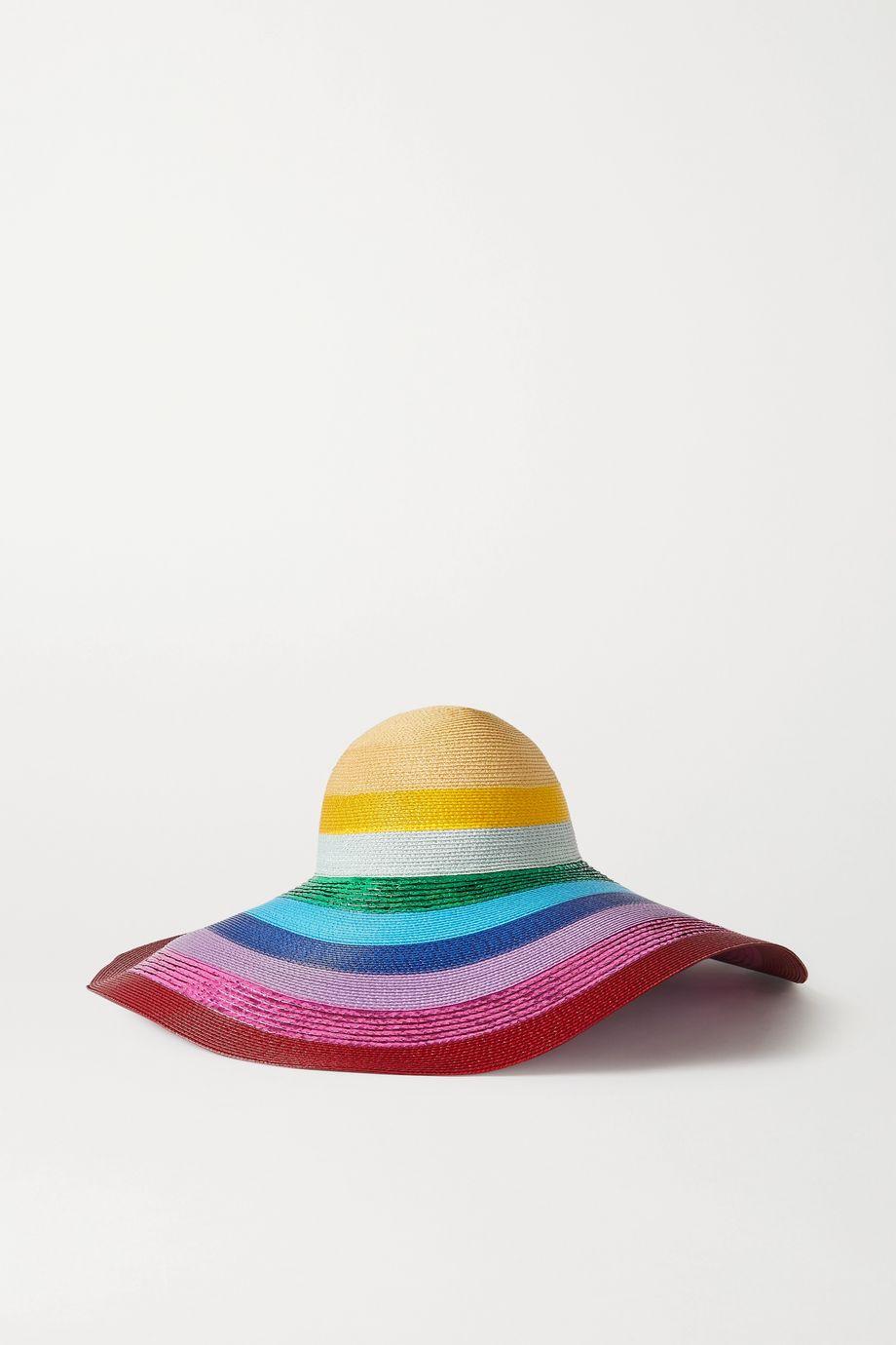 Mary Katrantzou MARY-MARE Riviera metallic striped woven hat