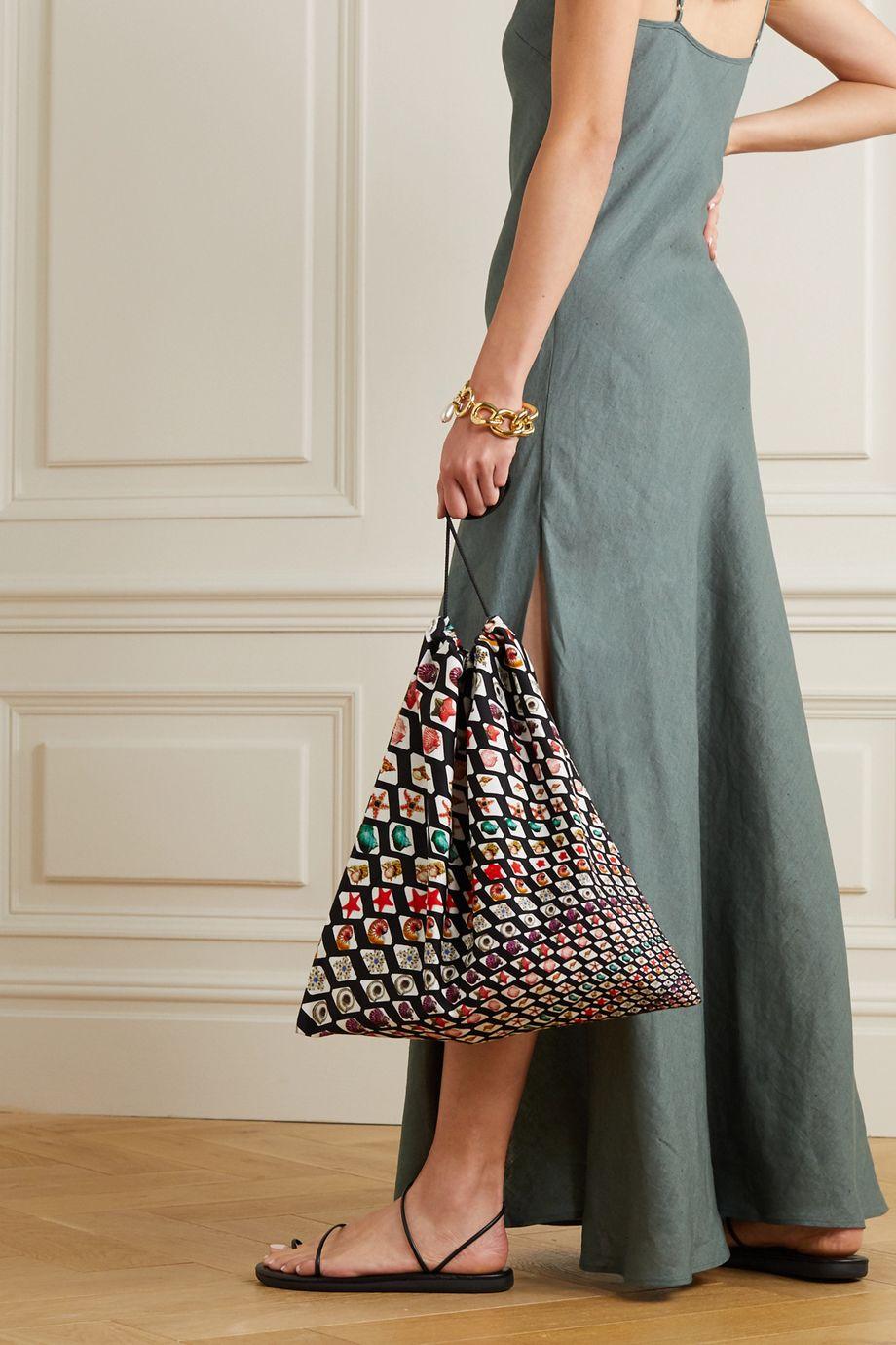 Mary Katrantzou MARY-MARE Printed cotton-twill pouch