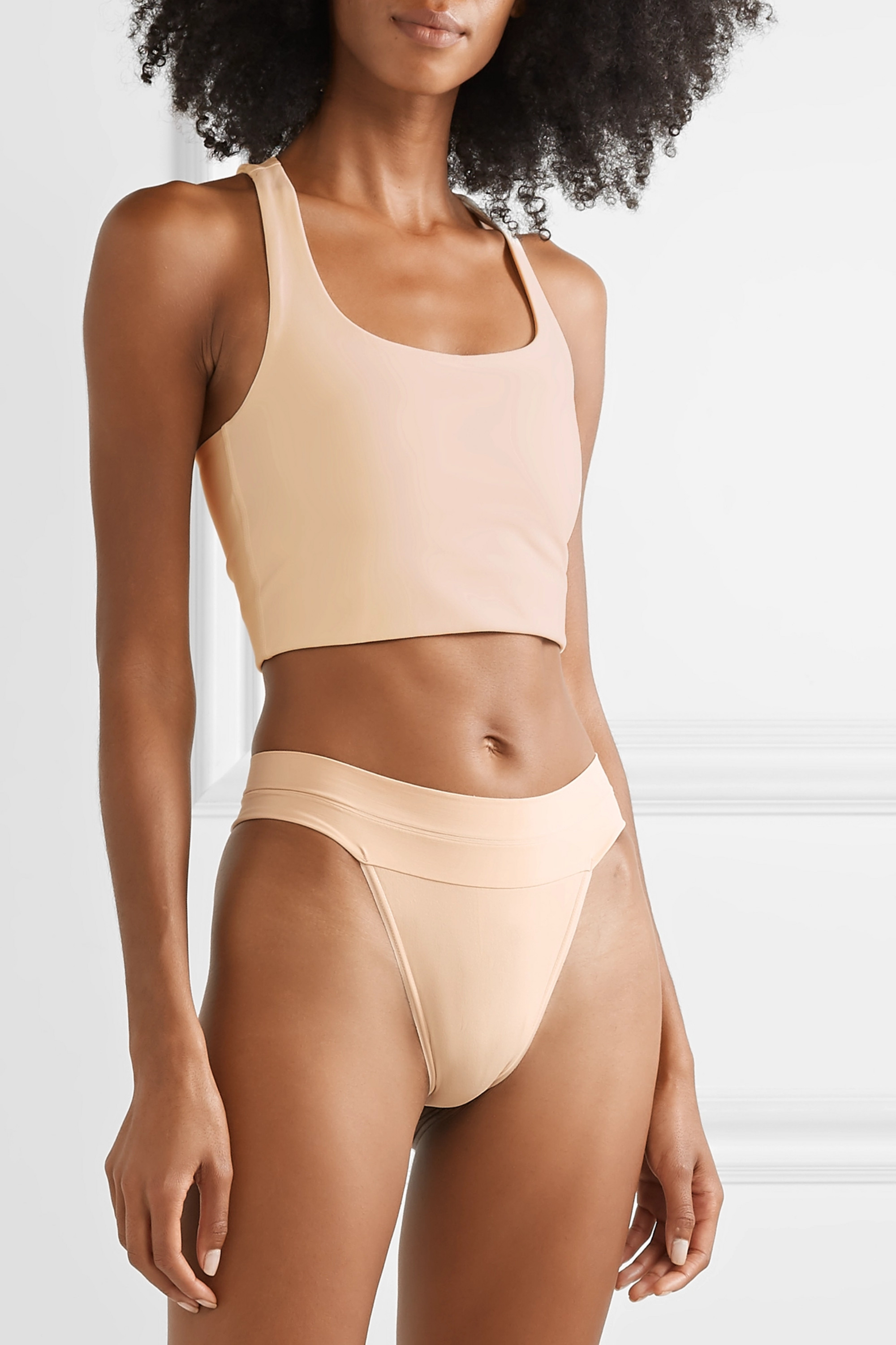 Quo Active Set of five stretch-jersey thongs