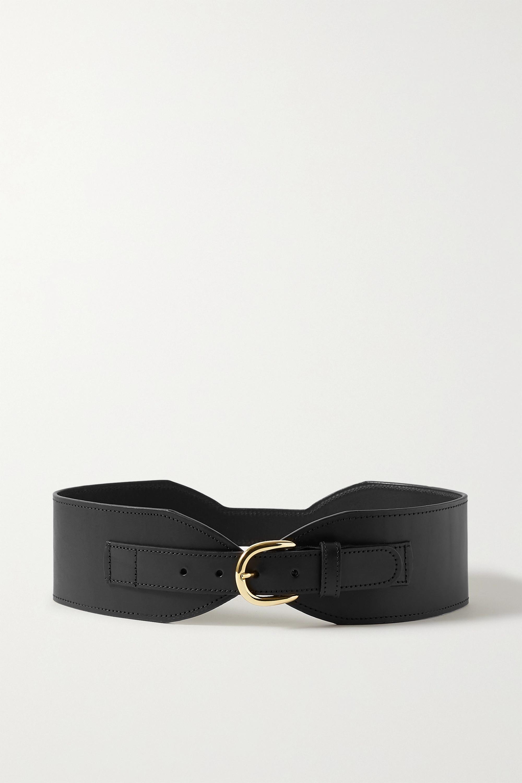 Black & Brown + NET SUSTAIN Lina leather waist belt