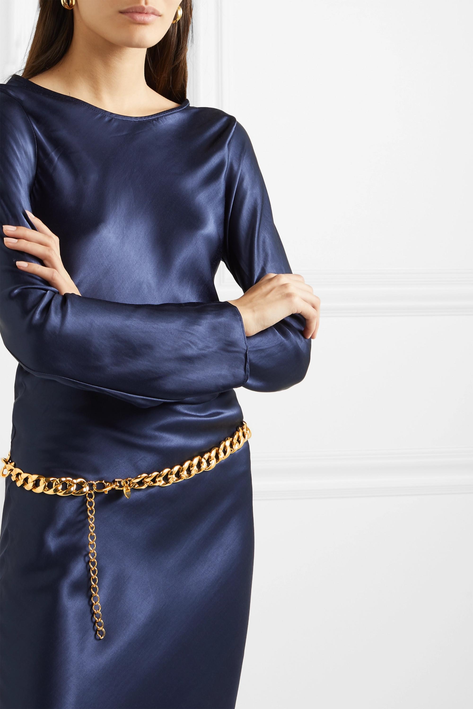 Black & Brown Diana gold-tone belt