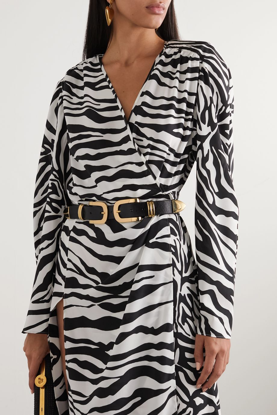 Black & Brown Leather waist belt