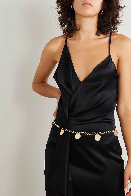Black & Brown Hailey gold-tone waist belt