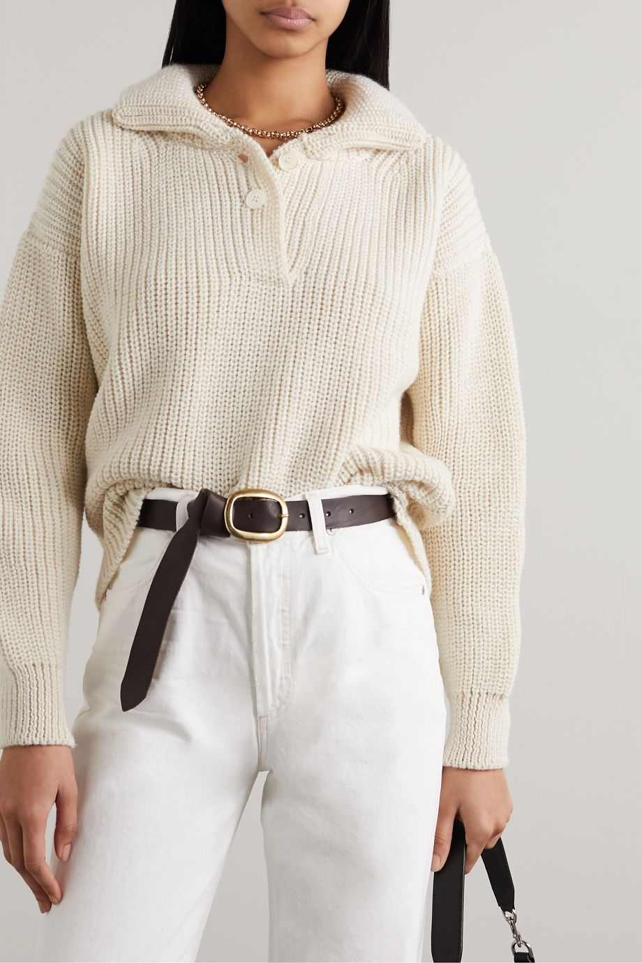 Black & Brown + NET SUSTAIN Harper leather belt