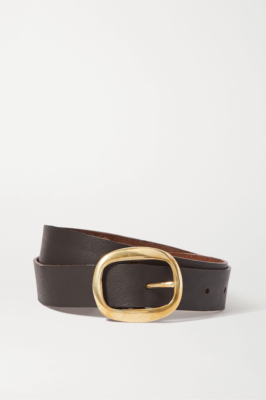 Black & Brown + NET SUSTAIN Harper leather belt