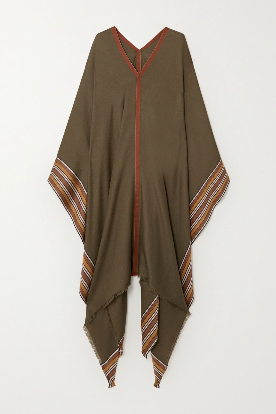Loro Piana The Suitcase Stripe silk and cashmere-blend poncho