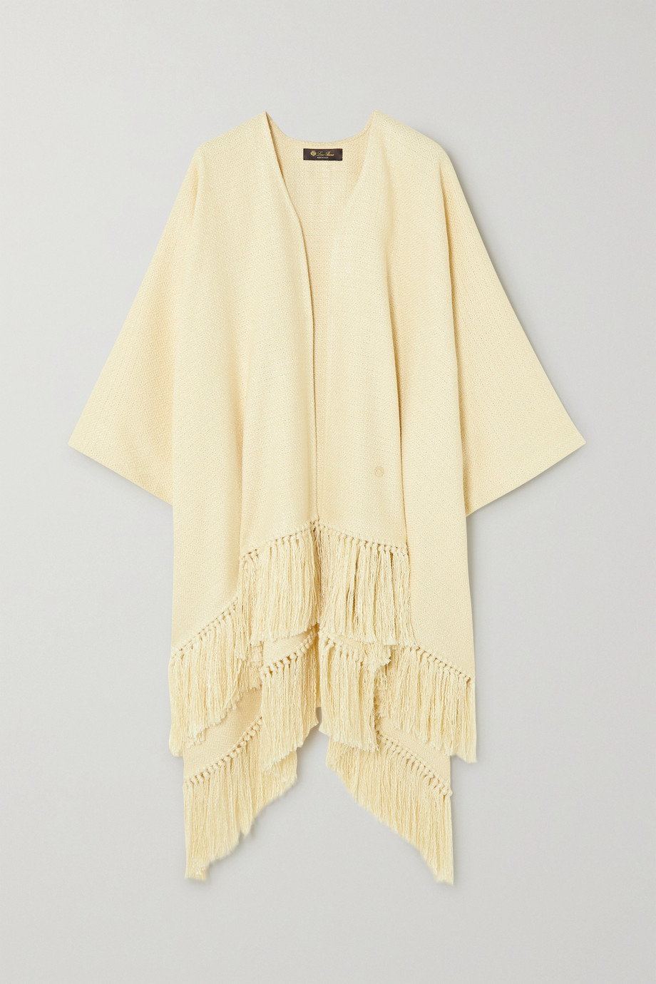Loro Piana Tasseled cotton and silk-blend poncho