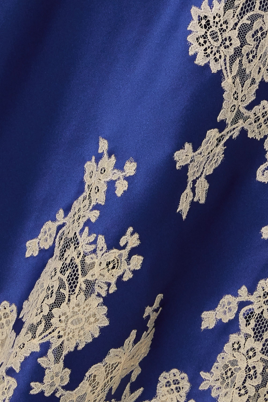 Carine Gilson Lace-trimmed silk-satin chemise
