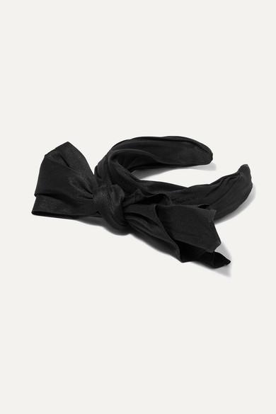 Bow Embellished Taffeta Headband by Ruslan Baginskiy