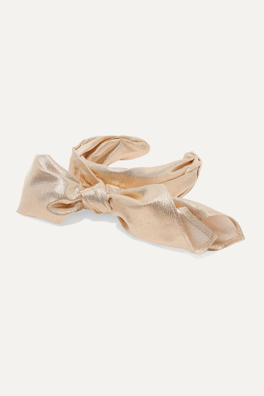 Ruslan Baginskiy Bow-embellished lamé headband