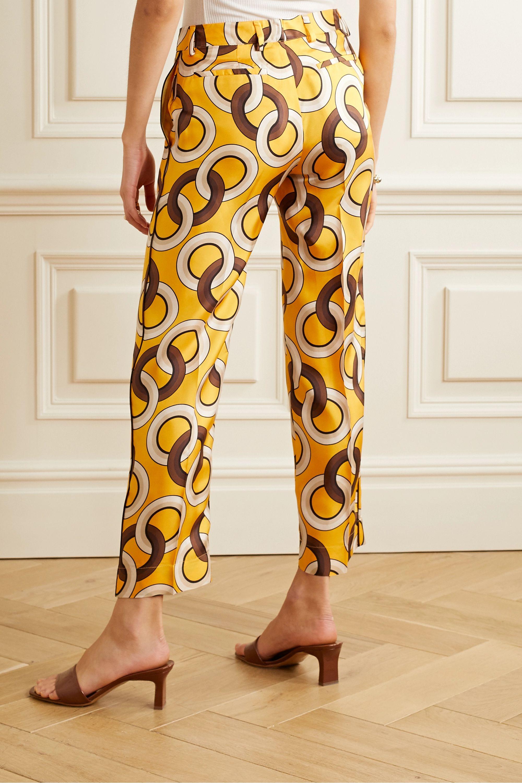 F.R.S For Restless Sleepers Tartaro printed silk-twill straight-leg pants
