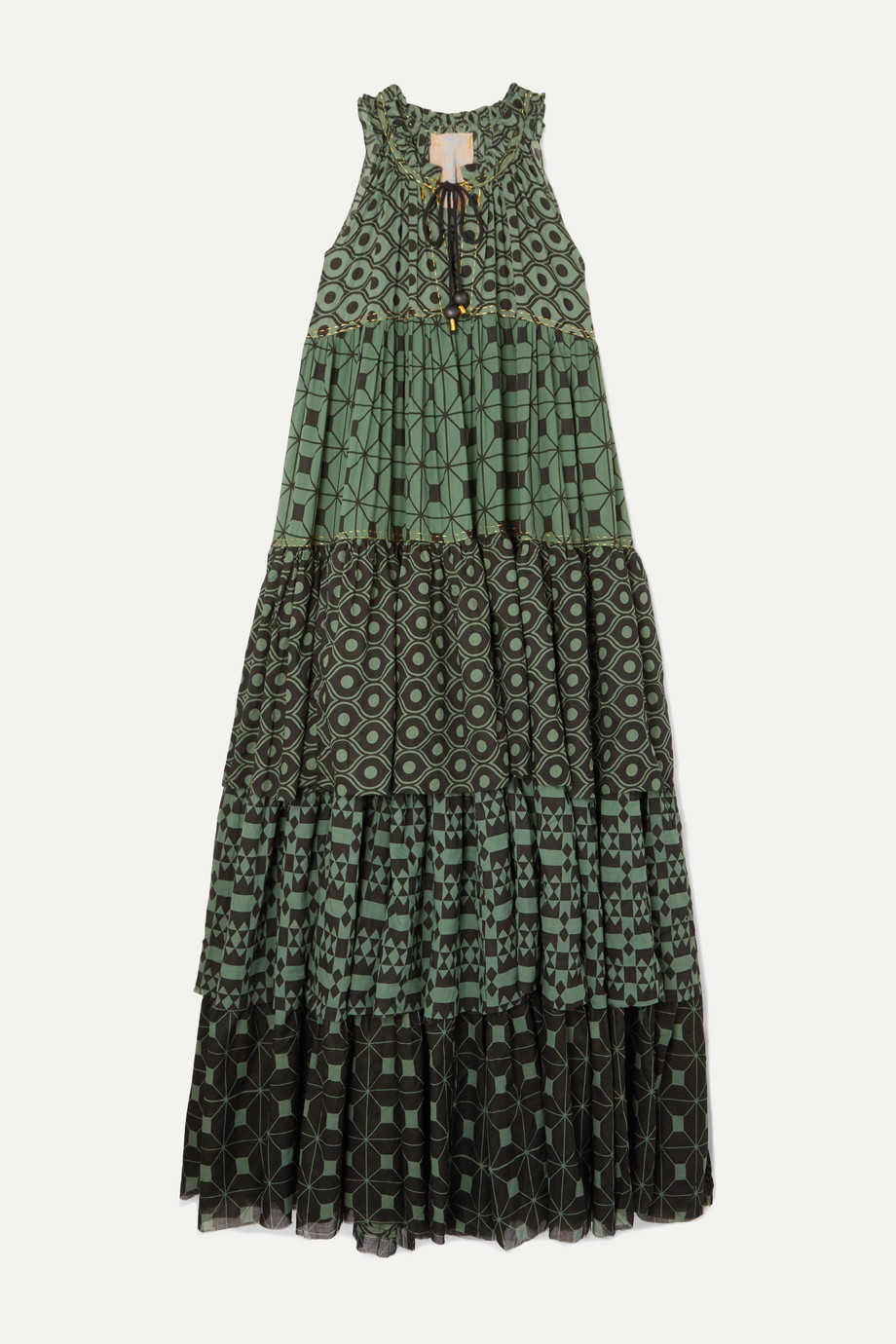 Yvonne S | Hippy tiered printed cotton-voile maxi dress | NET-A-PORTER.COM