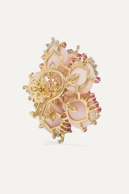 Bina Goenka 18-karat yellow and white gold multi-stone earrings