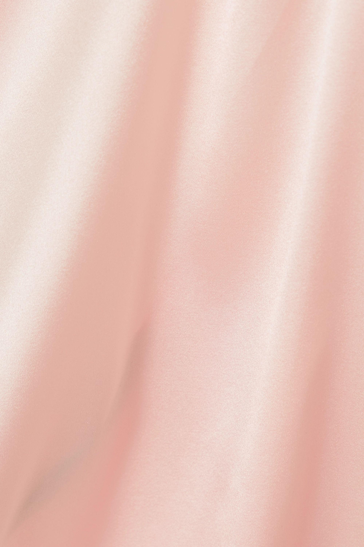 ioannes Asymmetrisches Minikleid aus Satin aus einer Seidenmischung mit Neckholder und Raffungen