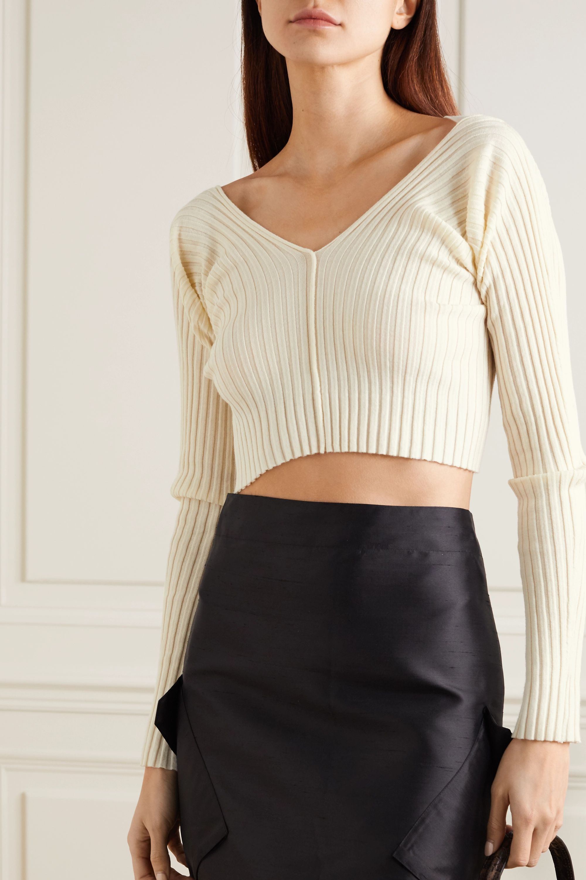 ioannes Tights ribbed wool-blend top