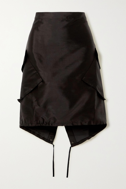 ioannes Combat silk and cotton-blend dupioni skirt