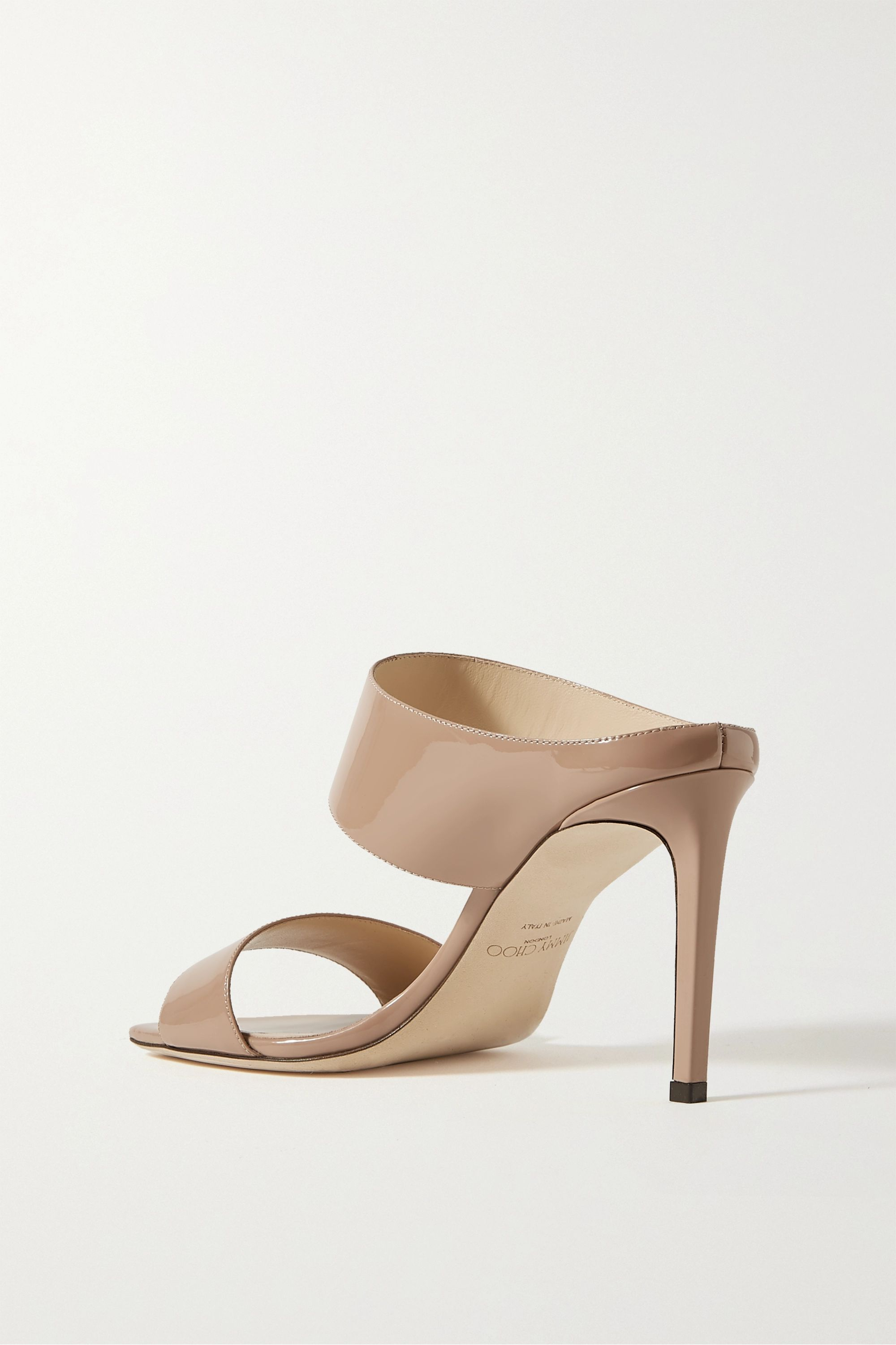Jimmy Choo Hira 85 patent-leather mules