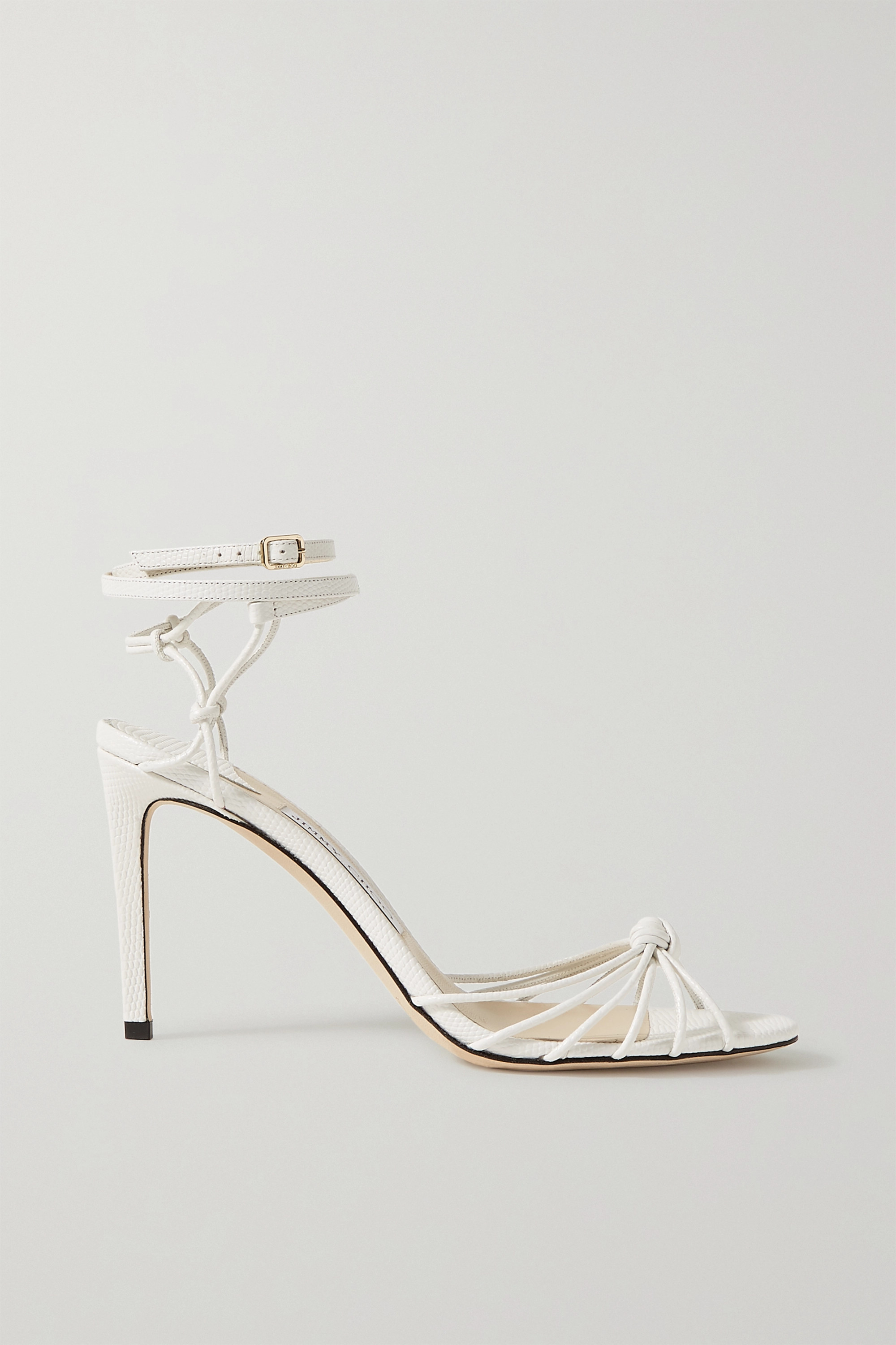 White Lovella 85 knotted lizard-effect