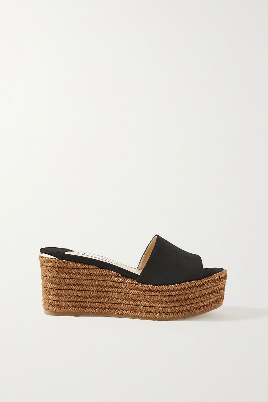 Jimmy Choo Deedee 80 suede espadrille wedge mules