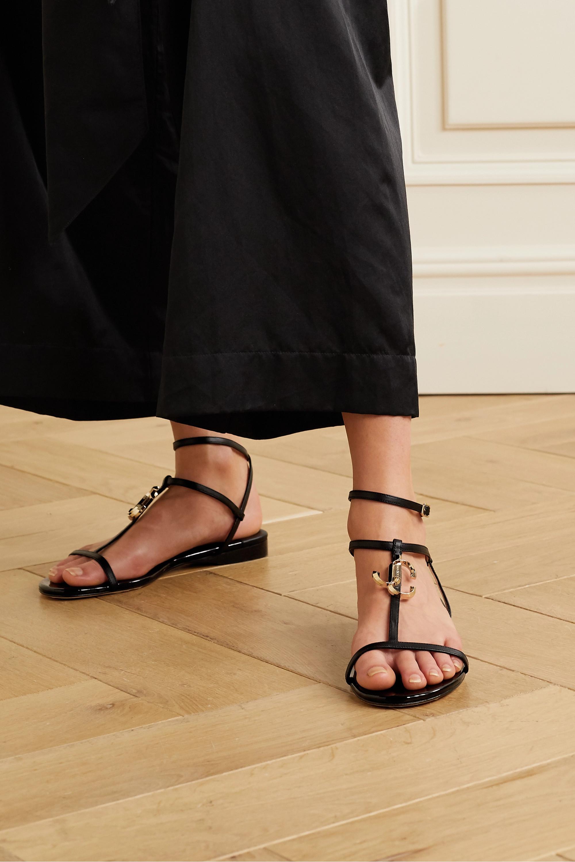 Jimmy Choo Alodie logo-embellished leather sandals