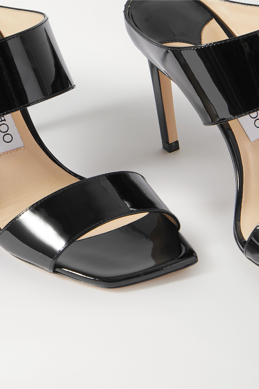 Jimmy Choo Hira 85 patent-leather mules