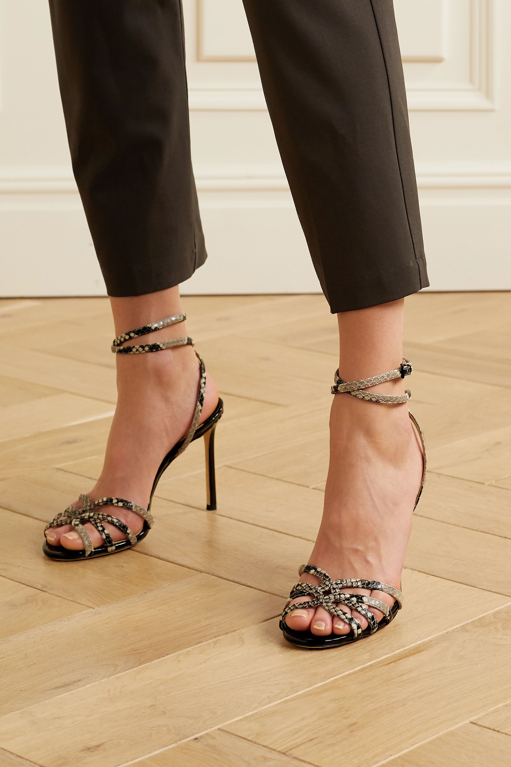 Jimmy Choo Mimi 100 snake-effect leather sandals