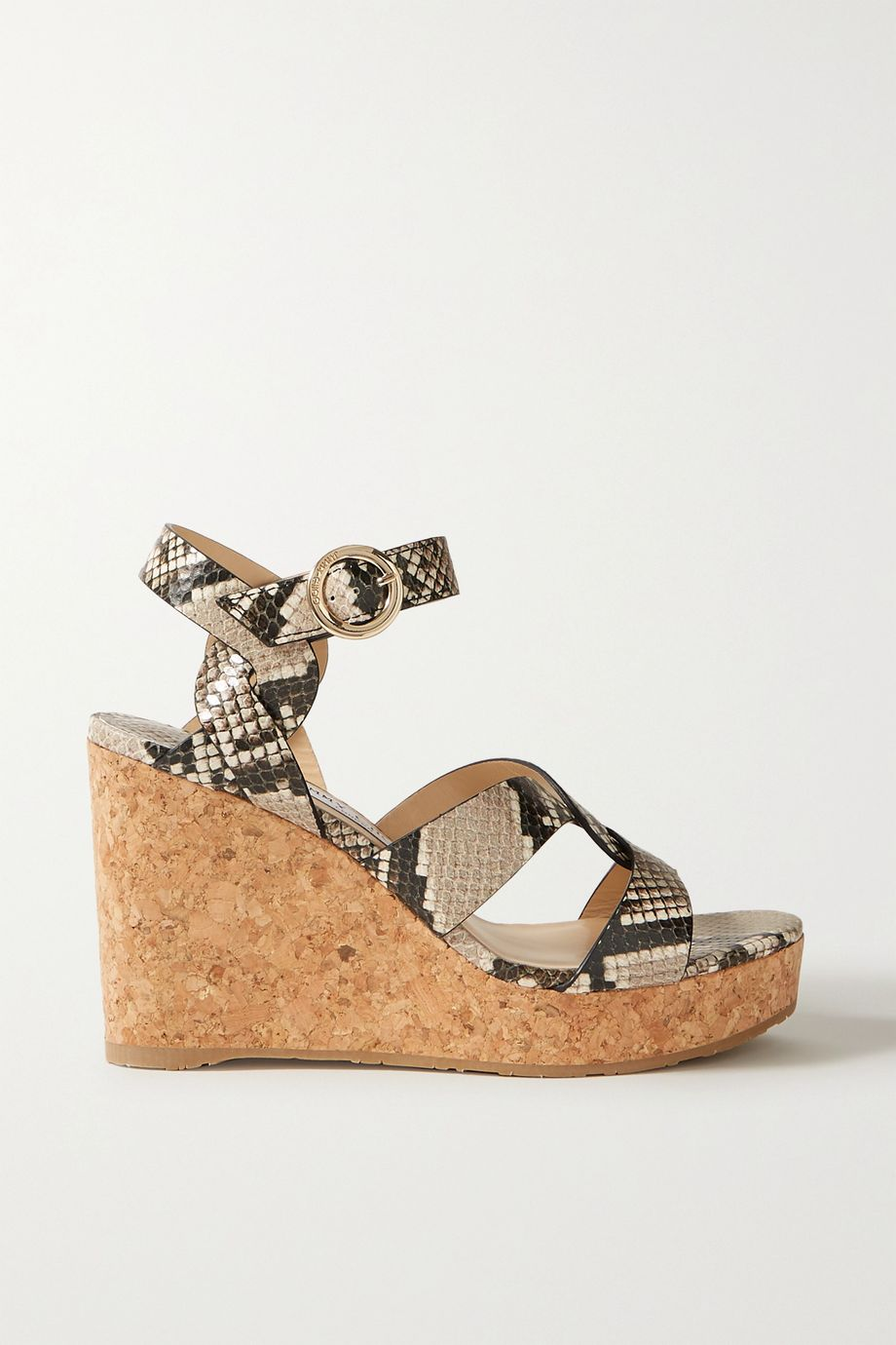 Jimmy Choo Aleili 100 snake-effect leather wedge sandals