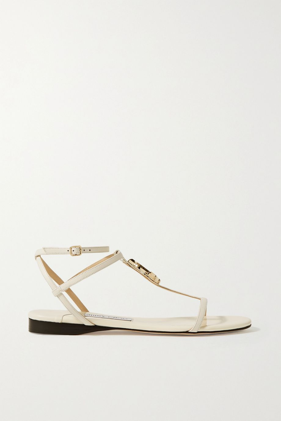Jimmy Choo Alodie logo-embellished leather sandals