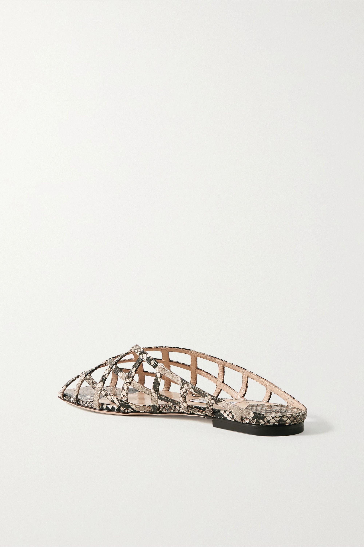 Jimmy Choo Sai snake-effect leather sandals