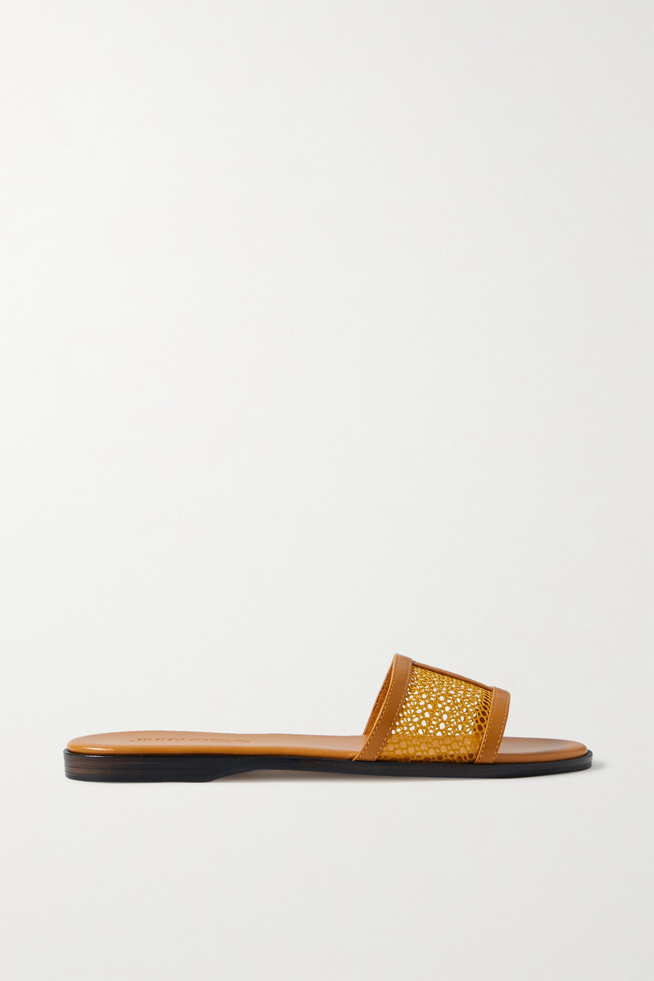 Jimmy Choo Minea mesh and leather slides