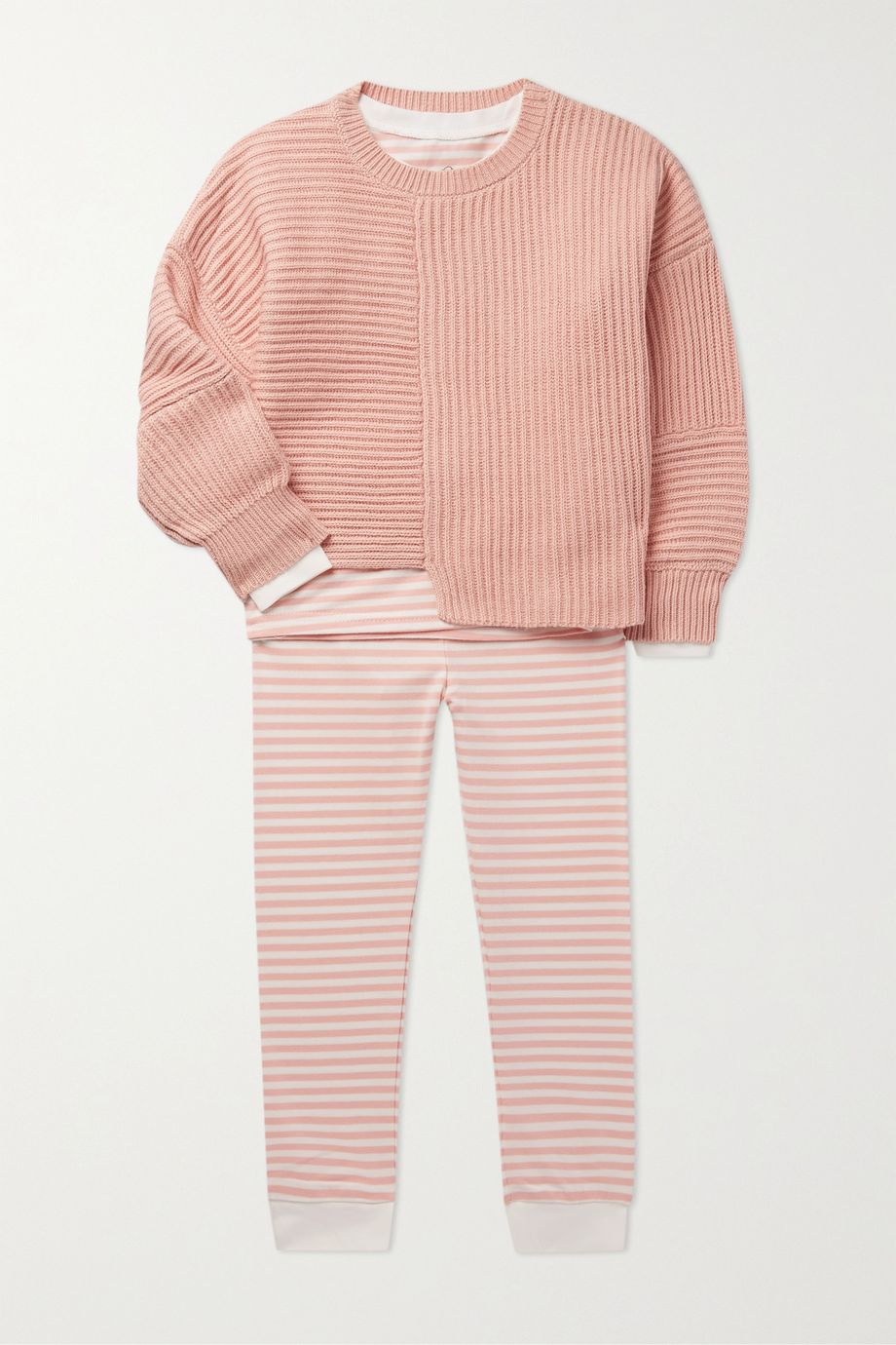 Morgan Lane Kids Ages 1 - 8 Lulu striped cotton-blend jersey pajama set