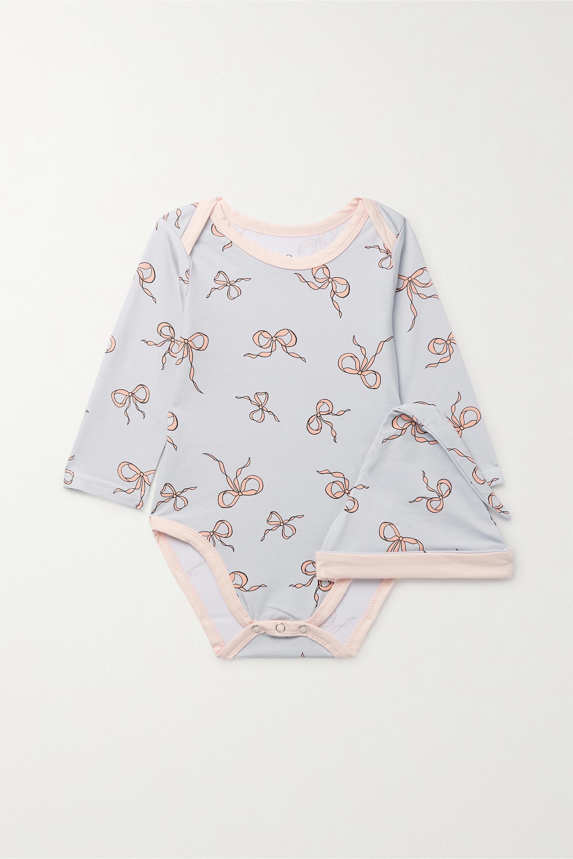 Morgan Lane Kids Grenouillère et bonnet en coton mélangé imprimé Roo, 0-18 mois