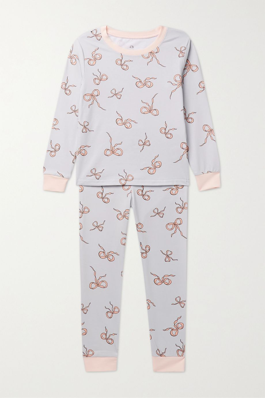 Morgan Lane Kids Lulu ages 1 - 8 printed stretch-jersey pajama set
