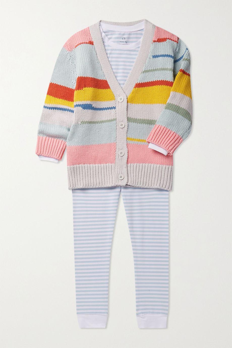 Morgan Lane Kids Lulu ages 1 - 8 striped stretch-cotton jersey pajama set