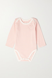 Morgan Lane Kids Roo months 0 - 18 embroidered striped stretch-cotton onesie
