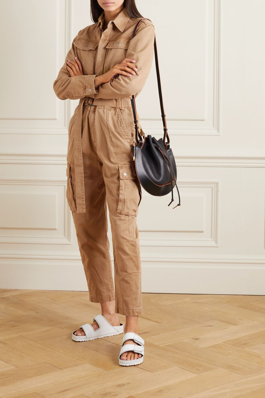 Ksubi Feedback belted cotton-drill jumpsuit