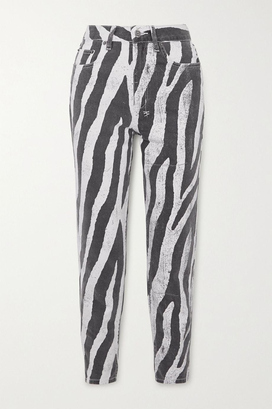 Ksubi Pointer zebra-print high-rise straight-leg jeans