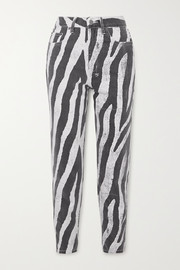 Ksubi Pointer zebra-print high-rise straight-leg jeans