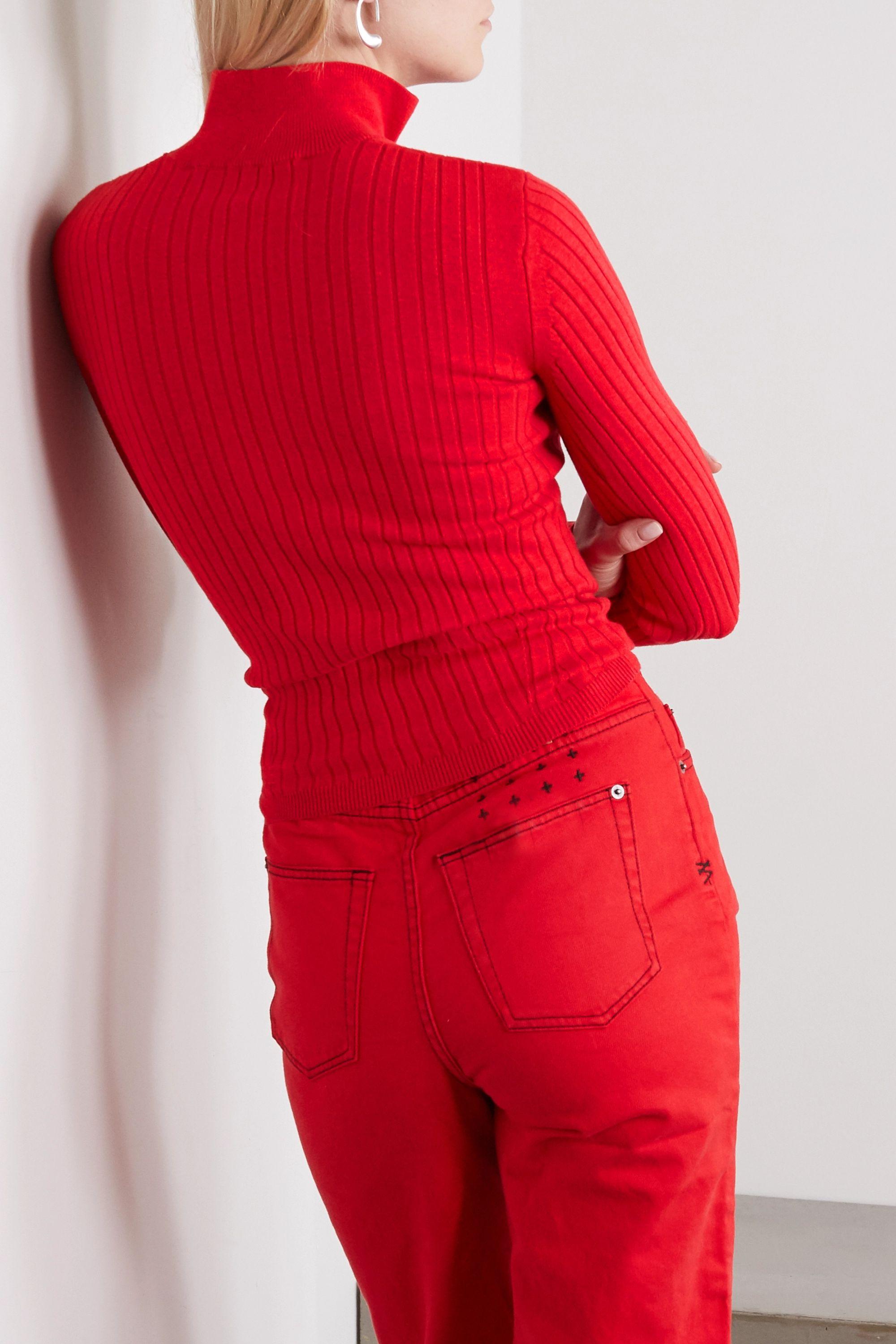 Ksubi Synth gerippter Pullover aus einer Baumwollmischung