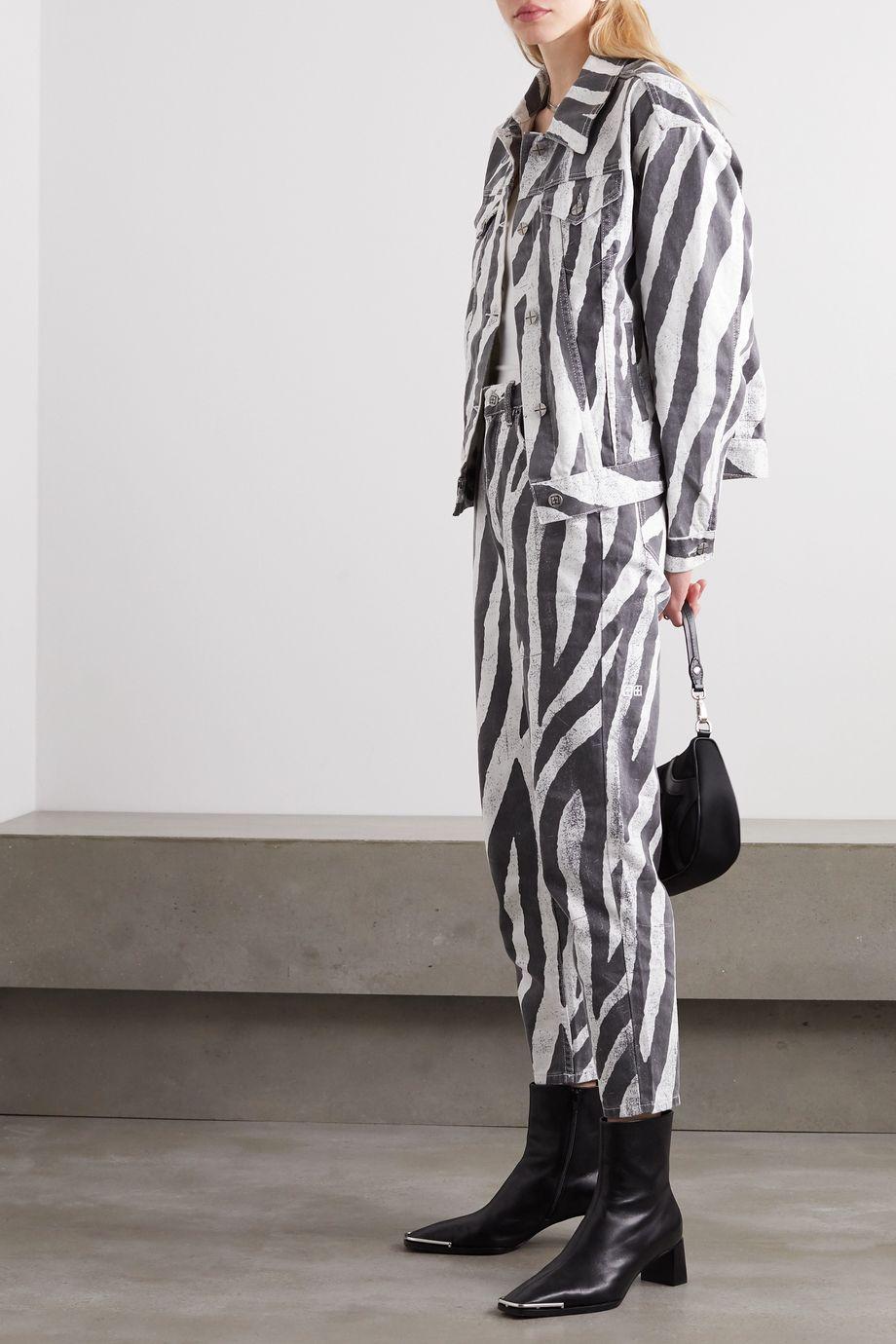Ksubi Static oversized zebra-print denim jacket
