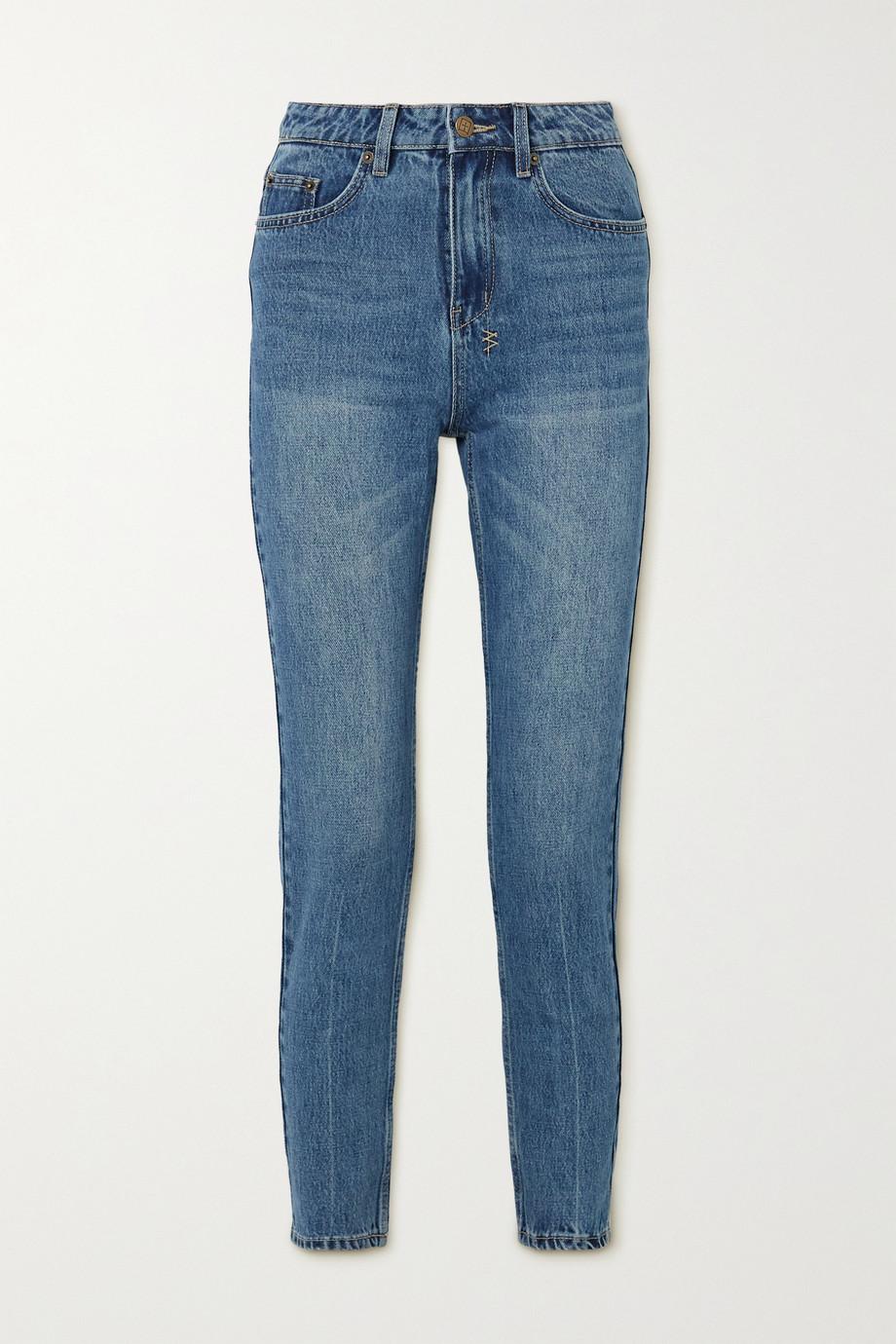 Ksubi Slim Pin verkürzte hoch sitzende Jeans mit schmalem Bein