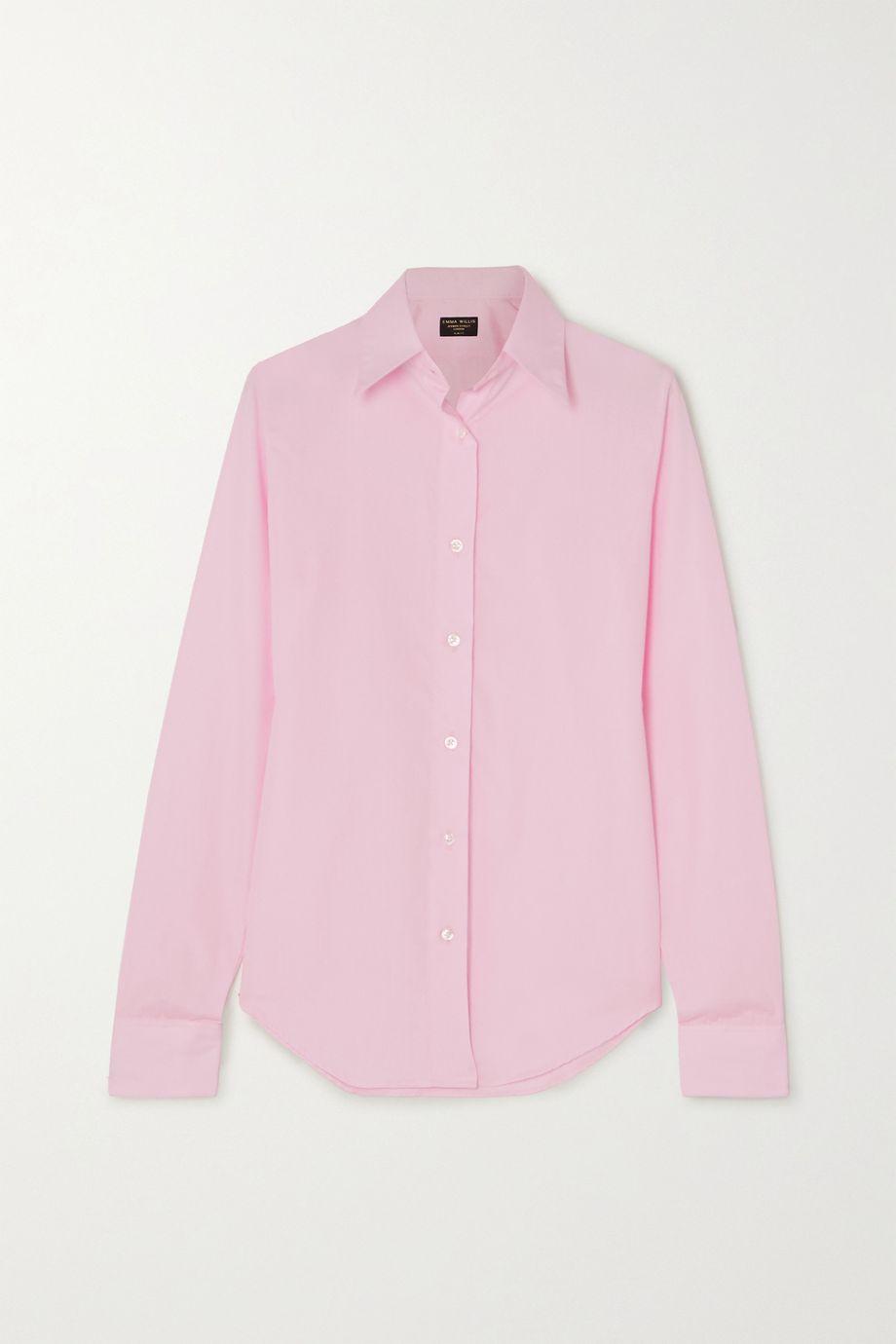 Emma Willis + NET SUSTAIN Superior cotton-poplin shirt